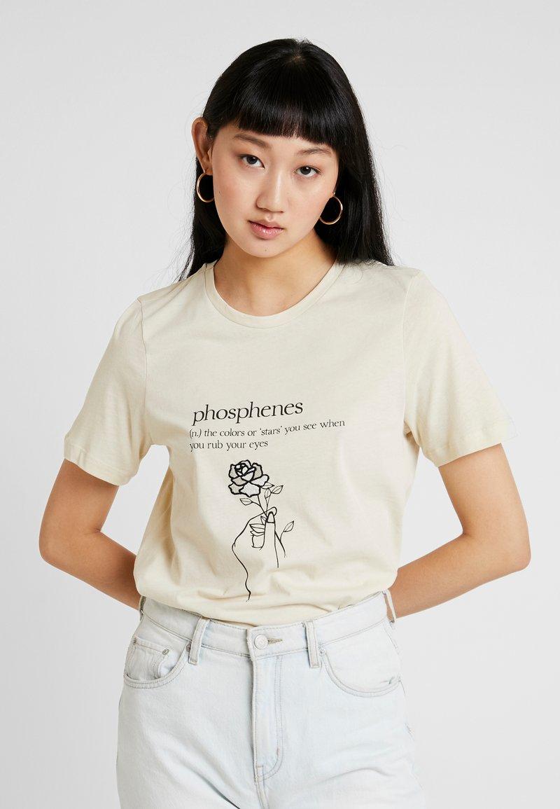 Vero Moda - VMKALOPSIA - T-shirt con stampa - oyster gray/phosphenes