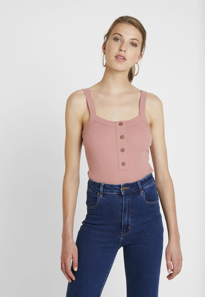 Vero Moda - VMPOLLY BUTTON BODYSUIT - Topper - brick dust