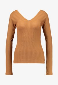 Vero Moda - VMKATE V NECK - Topper langermet - tobacco brown - 3