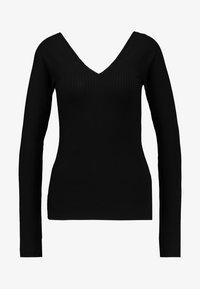 Vero Moda - VMKATE V NECK - Camiseta de manga larga - black - 3