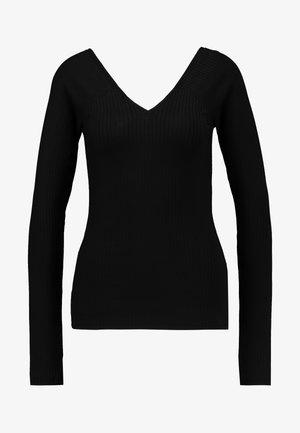 VMKATE V NECK - Top sdlouhým rukávem - black