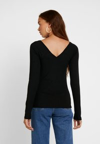 Vero Moda - VMKATE V NECK - Camiseta de manga larga - black - 2