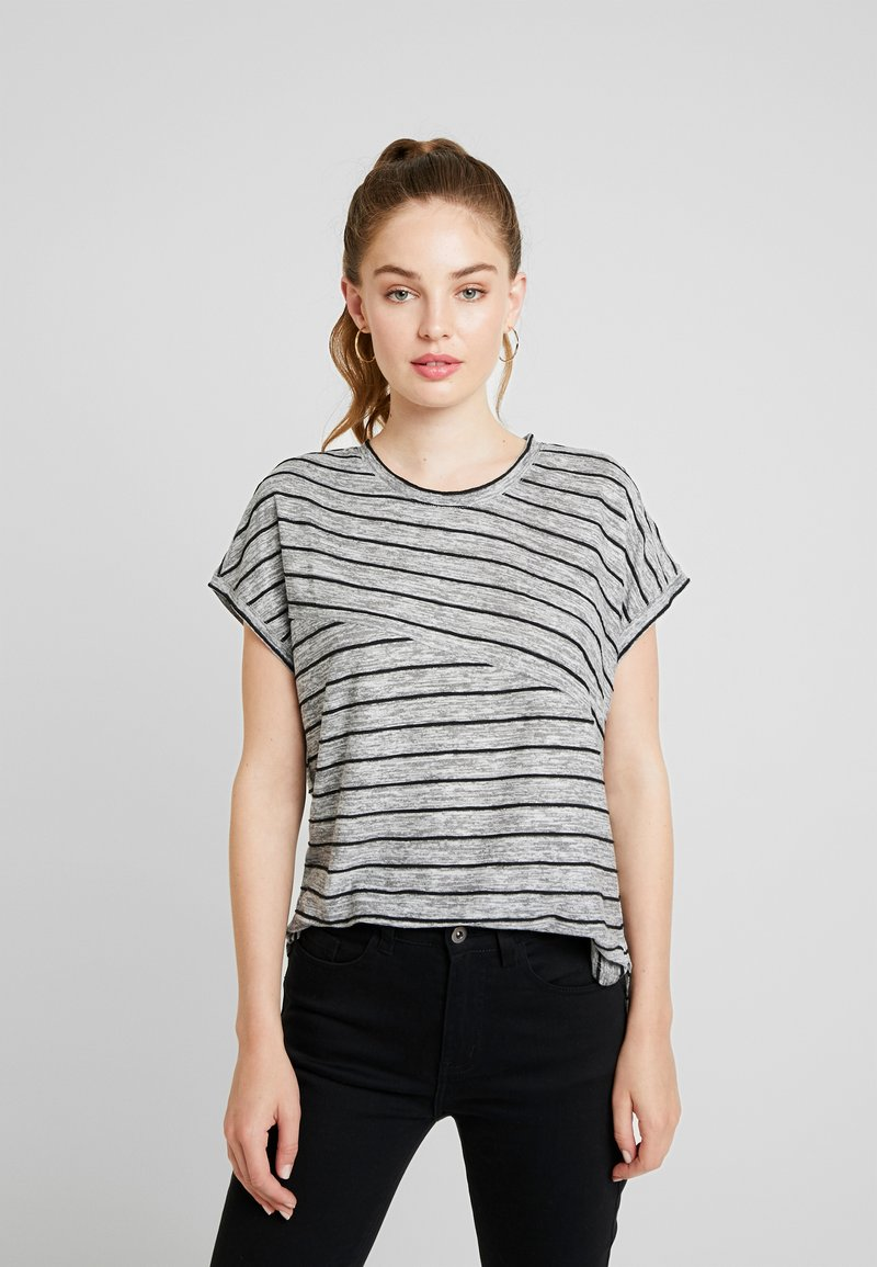 Vero Moda - VMCLAUDIA - T-Shirt basic - light grey melange/black