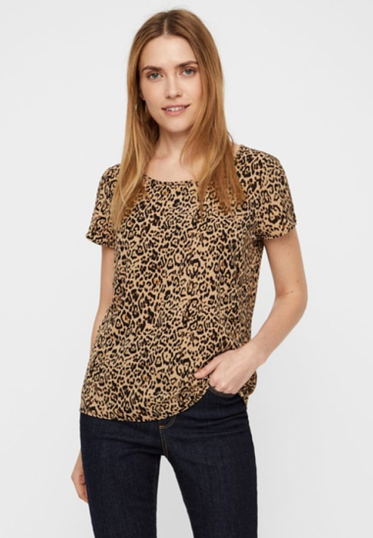 Vero Moda - Print T-shirt - beige