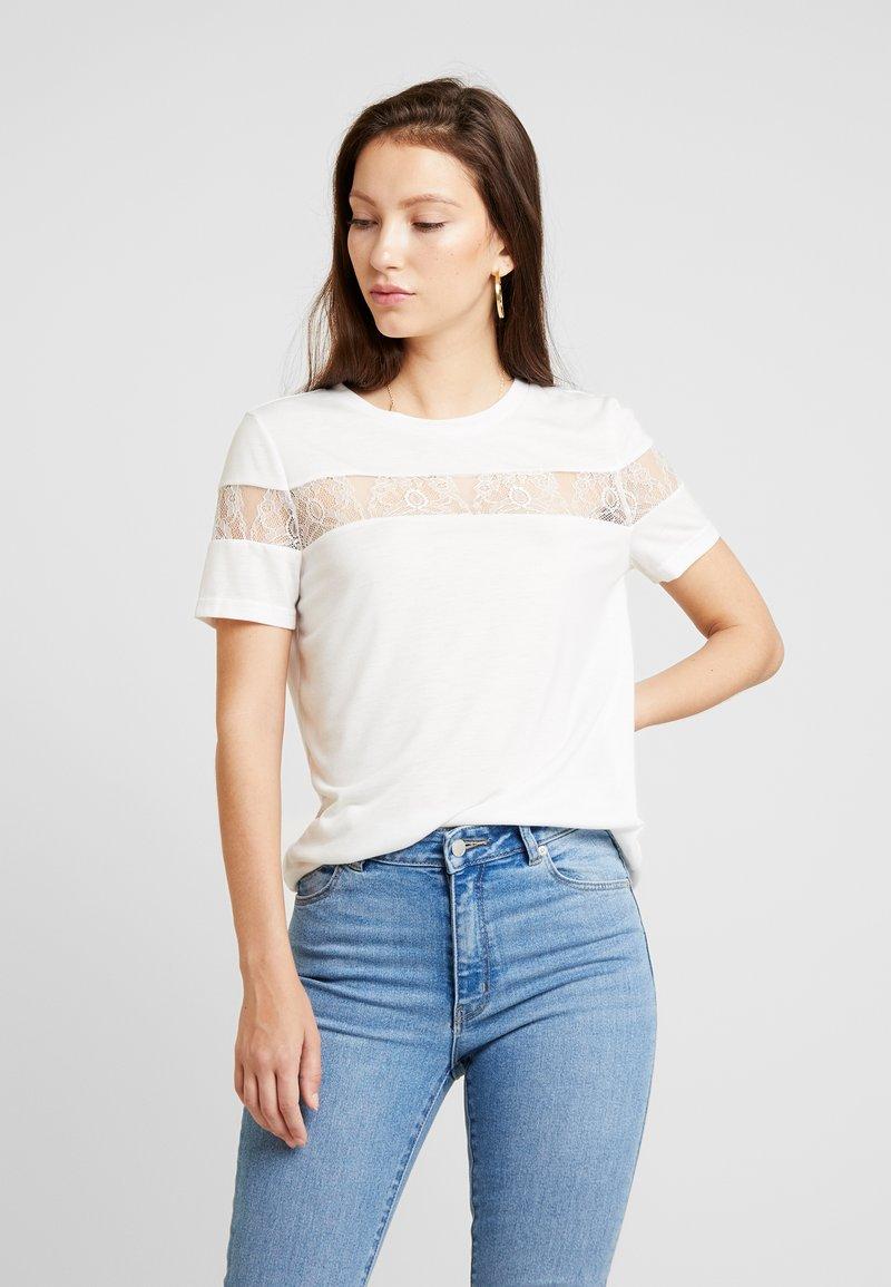 Vero Moda - VMKASANDRA O NECK - T-Shirt print - snow white