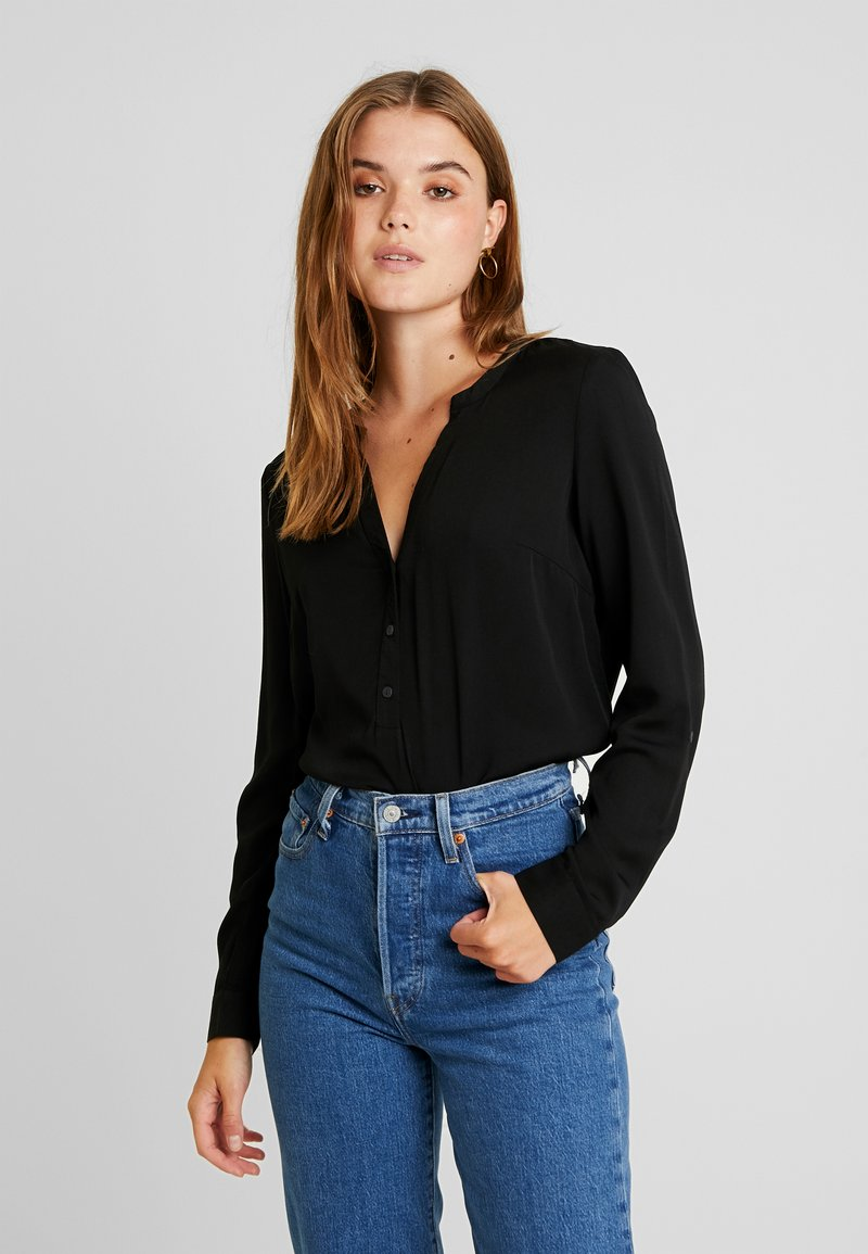 Vero Moda - VMAMELIA BUTTON - Bluse - black