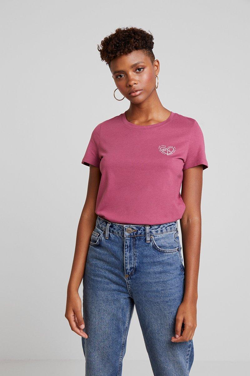 Vero Moda - VMCOMO FRANCIS - Print T-shirt - hawthorn rose