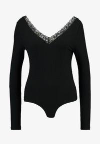 Vero Moda - VMHELEN V NECK - Long sleeved top - black - 4