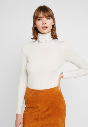 VMAVA LULU ROLLNECK BLOUSE - Camiseta de manga larga - birch