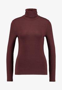Vero Moda - VMAVA LULU ROLLNECK BLOUSE - Long sleeved top - madder brown - 3
