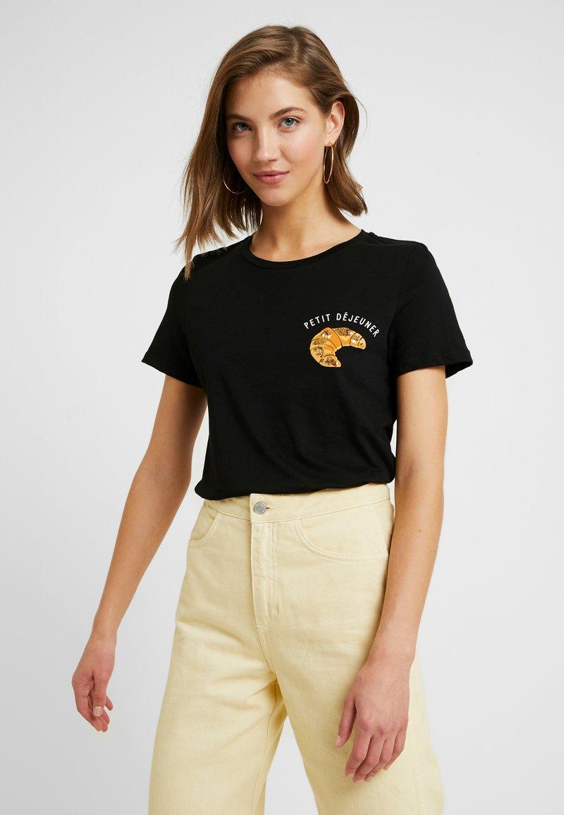 Vero Moda - VMEMINA FRANCIS BOX - T-Shirt print - black