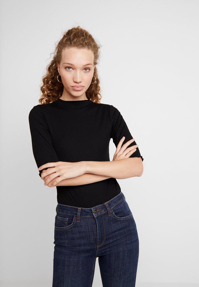 Vero Moda - VMWILMA BODYSUIT  - T-shirt imprimé - black
