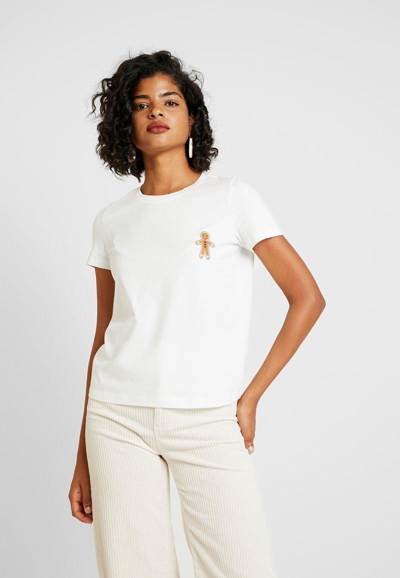 Vero Moda - VMXMAS FRANCIS - Print T-shirt - snow white