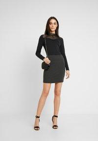 Vero Moda - VMLILJA HIGHNECK - Long sleeved top - black - 1