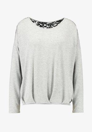 VMMYHONIE PLEAT - Camiseta de manga larga - light grey melange