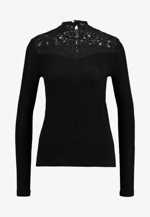VMMYHONIE HIGHNECK - Pitkähihainen paita - black