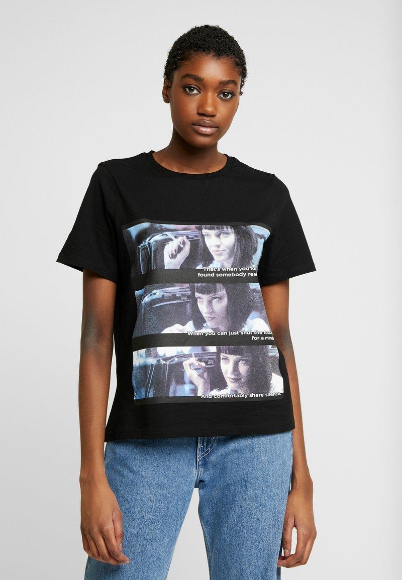 Vero Moda - VMPULPFICTION - T-shirt imprimé - black
