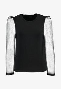 Vero Moda - VMALBERTA FABRIC PUFF - Långärmad tröja - black - 3