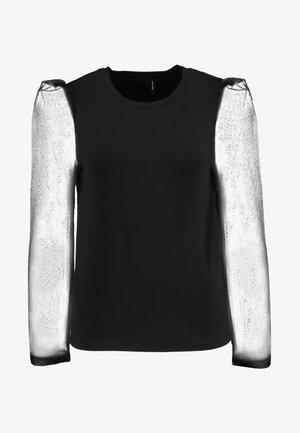 VMALBERTA FABRIC PUFF - T-shirt à manches longues - black