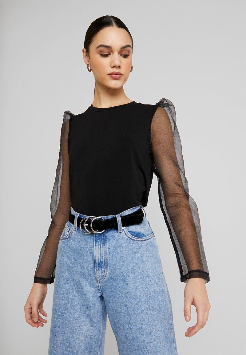 Vero Moda - VMALBERTA FABRIC PUFF - Långärmad tröja - black