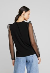 Vero Moda - VMALBERTA FABRIC PUFF - Langarmshirt - black - 2