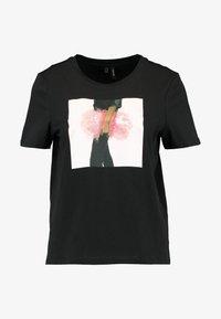 Vero Moda - VMFLANSA - T-shirts med print - black/pink bag - 3