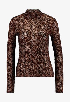 VMFIFI HIGH NECK - Blouse - black/brown