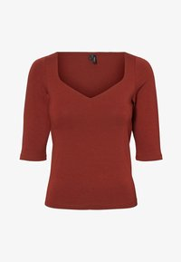 Vero Moda - T-shirt basique - madder brown - 4