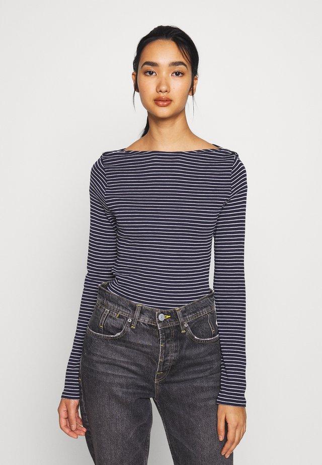 VMGERI BOATNECK - Long sleeved top - dark blue