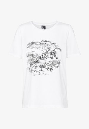 VMSAFARI PRINTED - Camiseta estampada - snow white