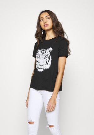 VMSAFARI PRINTED - T-shirt print - black