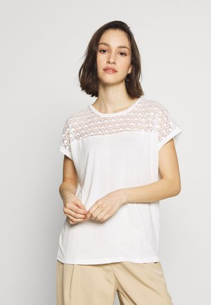 VMSOFIA LACE TOP - T-shirt basique - snow white