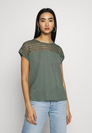 VMSOFIA LACE TOP - T-shirt basic - laurel wreath