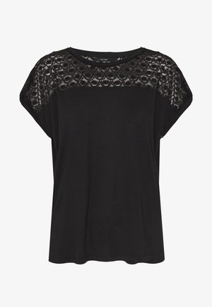 VMSOFIA LACE TOP - T-shirt basic - black