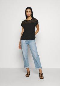 Vero Moda - VMSOFIA LACE TOP - T-shirt basic - black - 1