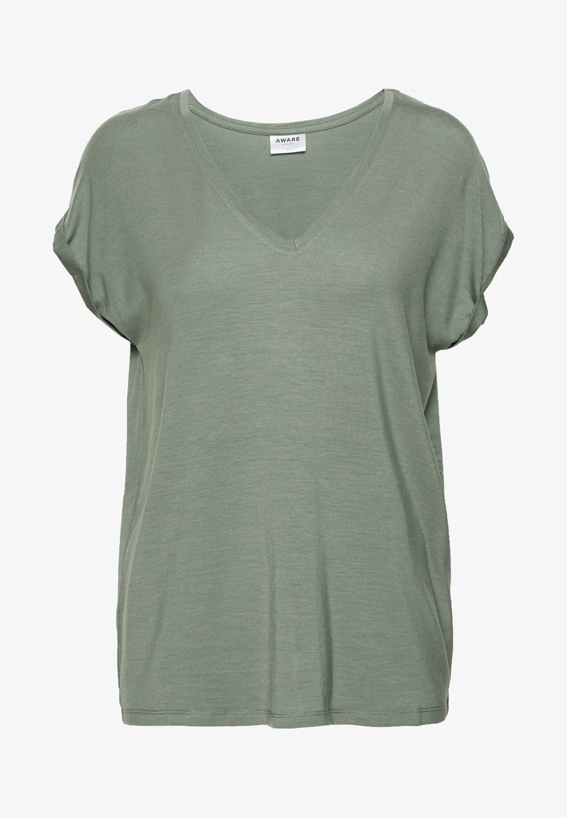 Vero Moda - VMAVA V-NECK TEE - T-shirt basic - laurel wreath