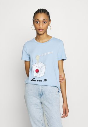VMJUDITH FRANCIS BOX - Camiseta estampada - placid blue