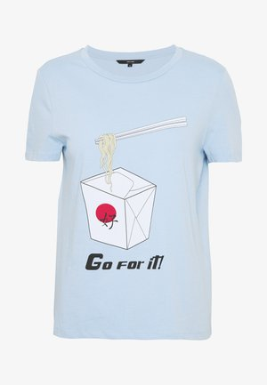 VMJUDITH FRANCIS BOX - Print T-shirt - placid blue