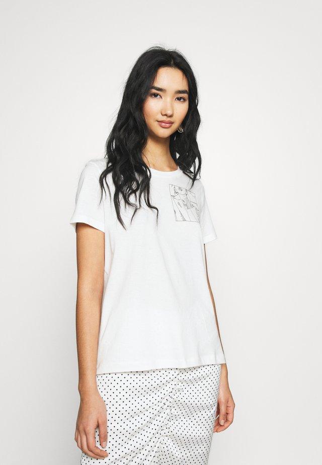 VMKATHERINAFRANCIS - Print T-shirt - snow white