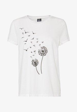 VMALMA DANDELOIN FRANCIS - T-shirt print - snow white