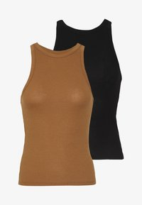 Vero Moda - VMROMA HALTERNECK VIP 2 PACK - Top - black/tobacco brown - 5