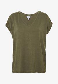 Vero Moda - VMAVA VNECK TEE  - T-shirts - ivy green - 4