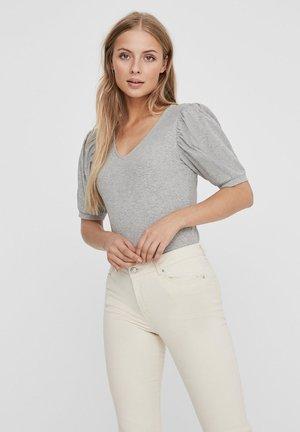 2/4-SLEEVED - T-shirt imprimé - light grey melange