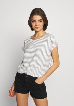 VMAVA PLAIN STRIPE - T-shirt imprimé - snow white