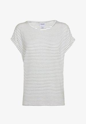 VMAVA PLAIN STRIPE - T-shirts med print - snow white