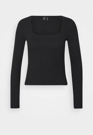 VMNEWAVA SQUARE NECK - Langærmede T-shirts - black