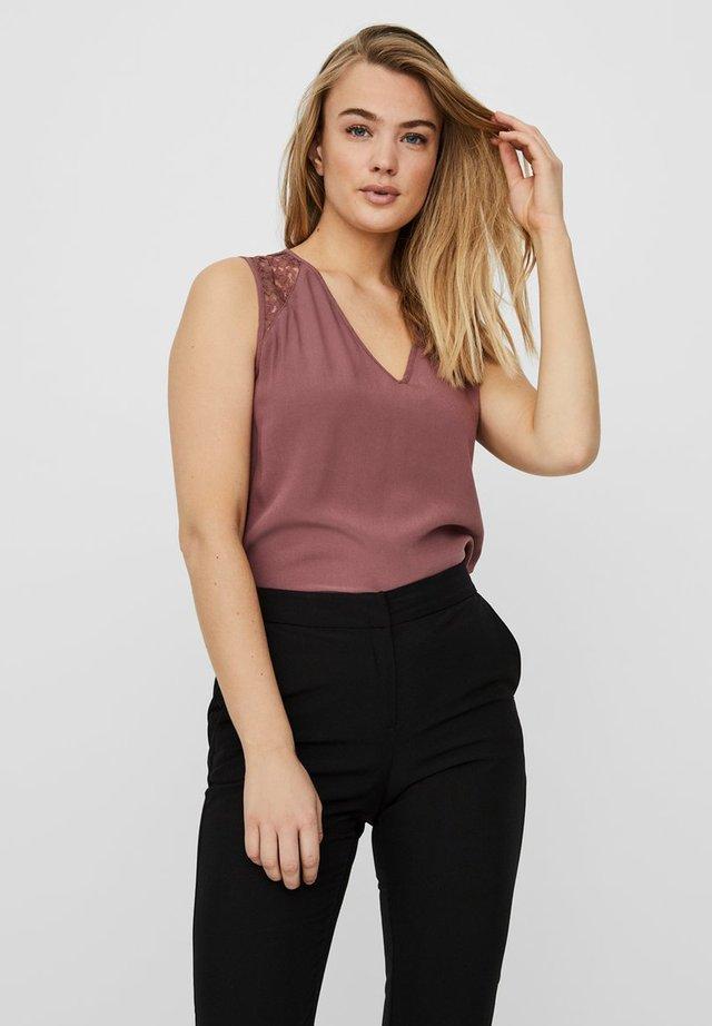 Bluse - rose brown