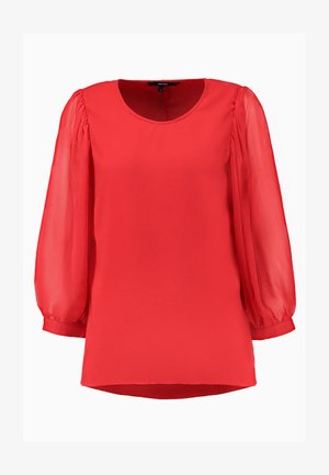 VMWO GABBY O NECK 3/4 MIDI - Blouse - chinese red