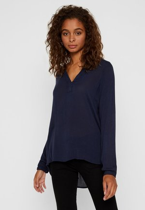 Blus - navy blazer