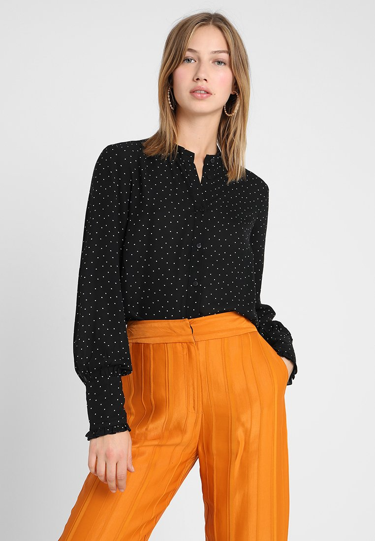Vero Moda - VMFAITH - Button-down blouse - black/pristine